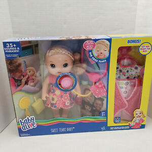 New Baby Alive SWEET TEARS Interactive Doll Doctor Sick Bonus Bed Time