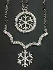 Patented Convertible 2 in 1 Changeable Snowflake Pendant Necklace
