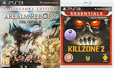 FINAL FANTASY XIV ONLINE REALM REBORN COLLECTOR'S EDITION & KILLZONE 2  PAL PS3