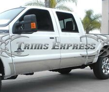 1999-2010 Ford F-250/F-350 Crew Cab Short Bed Chrome Rocker Panel Trim 10 1/2""