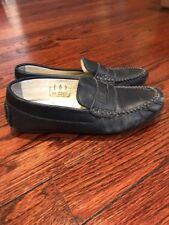Boys Primigi Brand Leather Loafers Dress Shoes Navy Size 32