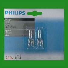 2x 25W Philips Halogen G9 Clear Capsule Dimmable UV Stop Light Bulb Lamp