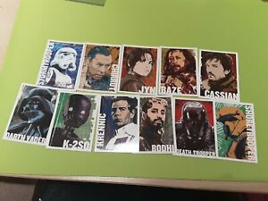 Star Wars: Rogue One Series 1 Character Icon Full Set of 11 Trading Cards *New*