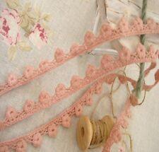Tiny Flowers Crochet Cotton Lace/Trims Dusty Pink Doll Bear Clothing 1.0cmx1M