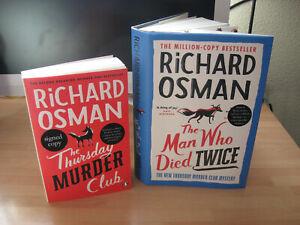 Richard Osman Signed 1st/1st The Man Who Died Twice & Thursday Murder Club bonus