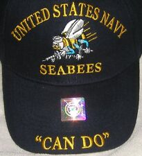 BRAND NEW UNITED STATES NAVY SEABEES (CAN DO) LICENSED HAT/CAP #207