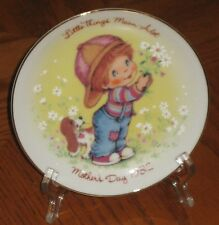 "Vintage Avon Plate ""Little Things""  Exclusive Presidents Club 1982 Mothers Day"
