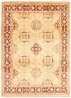 """Vintage Hand-knotted Carpet 9'0"""" x 12'3"""" Traditional Cream Wool Area Rug"""