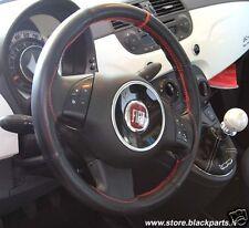 Coprivolante NERO specifico per Fiat 500 POP/LOUNGE volante in PELLE