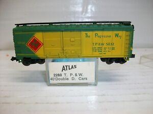 N Scale Atlas 2288 T.P & W 40' Double Doors Car