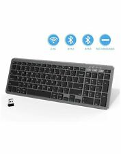 seenda Bluetooth Keyboard, Rechargeable Dual Mode 2.4G Wireless Bluetooth Keyboa