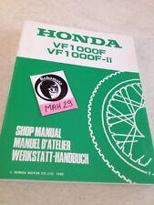 Honda VF1000F VF1000F2 VF1000 F FII revue technique moto manuel service atelier