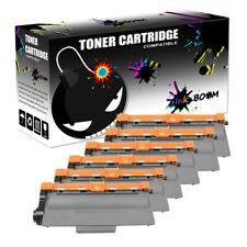 6 Black Toner Cartridge fits Brother TN750 MFC-8510DN MFC-8710DW HL-5440D