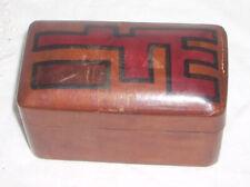 Vintage Handmade Leather Card Box & Double Deck Piatnik Austrian Playing Cards