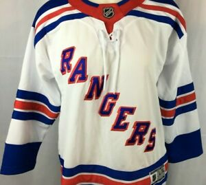 NEW Premier NHL New York Rangers Team Stitched Letter White Jersey Womens L/XL