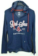 BOSTON RED SOX Majestic Women S Hoodie MLB Baseball Jumper Sweatshirt Blue Shirt