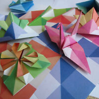 24pcs Square Folding Sheets Mixed Color Single Sided Origami Paper Craft Shan