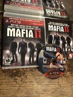 Mafia II 2 (Sony PlayStation 3, 2010) PS3 CIB Complete, Tested, Working!