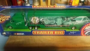 JOHN FORCE NHRA WINNERS CIRCLE CASTROL 10 TIME CHAMPION 1:64 TRAILER RIG HAULER