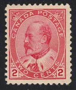 King Edward VII Scott's # 90 - 2 cent Rose Carmine - VF MNH CV $300.00 US