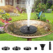 180L/h Solar Powered Fountain Water Pump Floating Garden Outdoor Pond Bird Bath