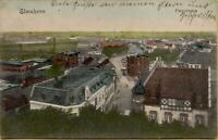 1958: Postkarte Ansichtskarte Elmshorn Panorama 1907 nach Schlesien