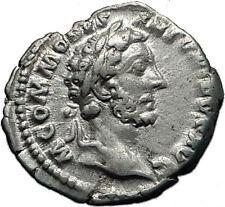 COMMODUS 181AD Silver Authentic Genuine Ancient Roman Coin ANNONA Rare i60612