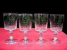 BACCARAT RICHELIEU CHAMPIGNY 4 WINE GLASSES VERRE A EAU VIN CRISTAL TAILLÉ 5777