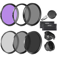 Neewer 58MM Lens Filter Accessory Kit for Canon EOS Rebel T5i T4i T3i T3 T2i T1i