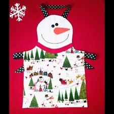 NEW Adult SNOWMAN APRON Christmas Party Hostess SANTA Reindeer SNOWMEN, Handmade