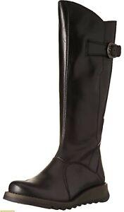 Fly London Women's Mol 2 UK Size 5 Black Leather Boots BNIB