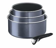 Tefal Ingenio Elegance 3 Saucepan Set with Handle Dark Grey (Non Induction)