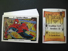 1990 MARVEL TODD McFARLANE COMPLETE TRADING CARD SET , SPIDERMAN + HEADER CARD