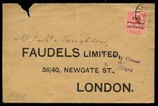 Togo WW1 Anglo Francese occupazione 1D Coperchio per UK Lome Annulla e passati censore