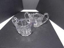 Ohio Flint Glass Krys-Tol Colonial 1776 Sugar Creamer Set Clear Crystal  ca1905