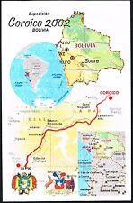 2003 Bolivia To Chile Card 2002 Expedition Coroico Map