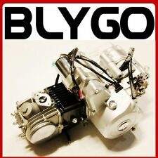BT 110cc 4 Gear Electric +Kick Start Manual Engine Motor PIT PRO Trail Dirt Bike