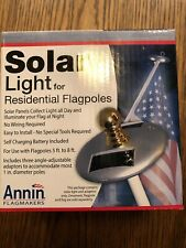 Annin Flagmaker 2804 Solar Light LED Pole Mini Residential Flagpole NIB New