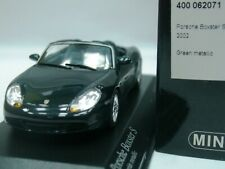WOW EXTREMELY RARE Porsche 986 Boxster S 2002 260HP Green 1:43 Minichamps-Spark