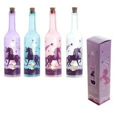 Mystisches Einhorn Dekorative Flasche mit LED Fantasy Nachtlicht unicorn