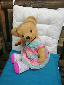 Hand knitted Teddy Bear clothes 🧸 dress