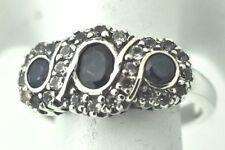 Anelli di lusso con gemme in zaffiro misura anello 17