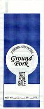 "1lb. Ground Pork Meat Bags 1000ea. - Pork ""Not For Sale"""