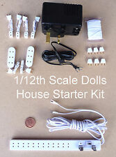 1:12 Scale Dolls House Miniature 12 Volt Lighting Accessory Wiring Starter Kit