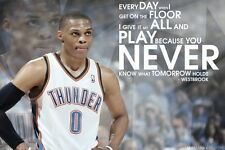"047 Russell Westbrook - Oklahoma City Thunder Basketball NBA 21""x14"" Poster"