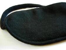 100%  cashmere sleep eye mask shade blindfold aid Black lined with 100% silk