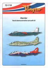 Vingtor 1/72 BAE Harrier-prueba y demostración aviones No.3 # 72118