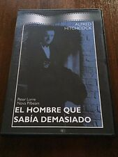 EL HOMBRE QUE SABIA DEMASIADO HITCHCOCK 1 DVD SLIMCASE - 72MIN - MUY BUEN ESTADO