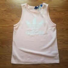 Adidas Original Trefoil Pink/White Loose Tank Top Women's Size Medium NWT A5-06