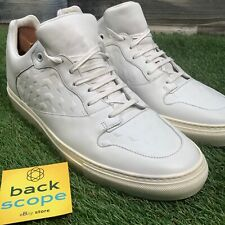 UK9 Balenciaga White Leather Low Top Sneakers - Designer Trainers - RRP£350 EU43